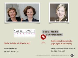 Social Media Führerschein und SAAL ZWEI Kooperation für eine qualifizierte Weiterbildung.